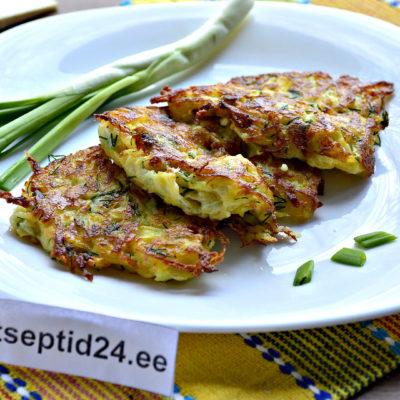 Кабачковые блины с сыром и зеленью