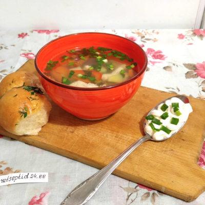Куриный суп с картофелем Осенняя рапсодия