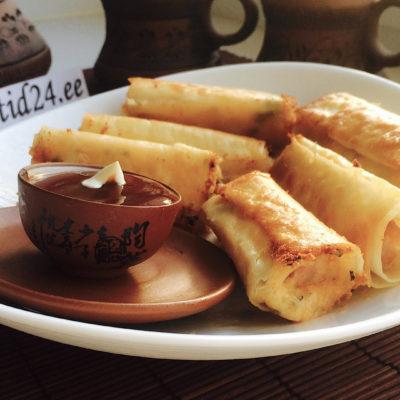Krõbedad juusturullid lavaššist ja singiga