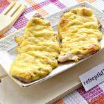 Kanafilee ahjus juustuga ja küüslaugumajoneesiga