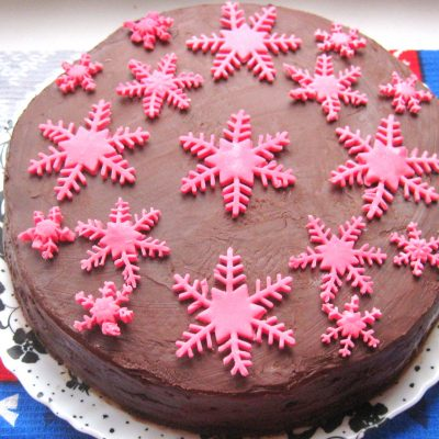 Šokolaaditort keedukreemiga ja glasuuriga